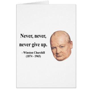 Cita 1b de Winston Churchill Felicitacion