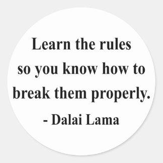 cita 2a de Dalai Lama Pegatina Redonda