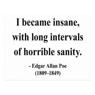 Cita 2a de Edgar Allen Poe Tarjeta Postal