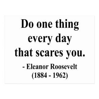Cita 2a de Eleanor Roosevelt Tarjetas Postales