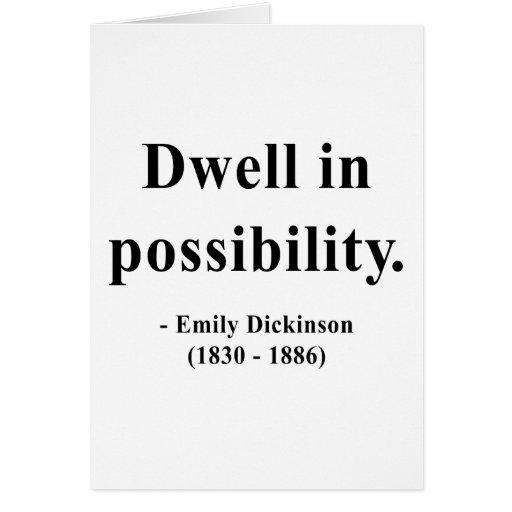 Cita 2a de Emily Dickinson Tarjeta De Felicitación