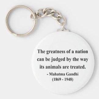 Cita 2a de Gandhi Llavero Redondo Tipo Pin