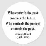 Cita 2a de George Orwell Pegatina