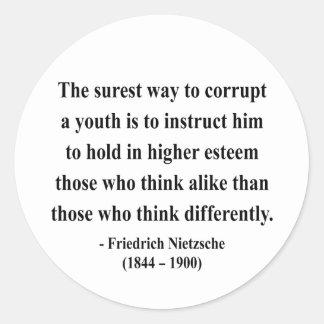Cita 2a de Nietzsche Etiquetas Redondas