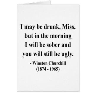 Cita 2a de Winston Churchill Tarjeta
