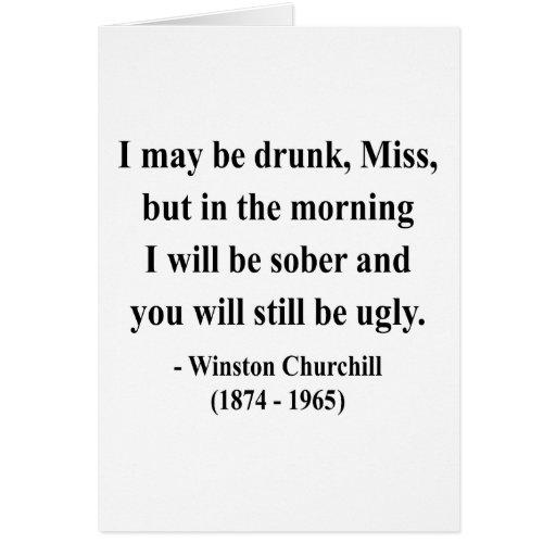 Cita 2a de Winston Churchill Tarjeta De Felicitación