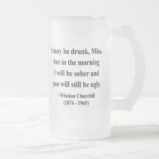 Cita 2a de Winston Churchill Taza Cristal Mate