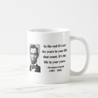 Cita 2b de Abraham Lincoln Taza Clásica