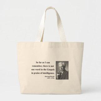 Cita 2b de Bertrand Russell Bolsa De Tela Grande