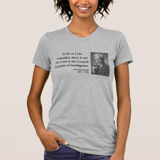 Cita 2b de Bertrand Russell Camisetas