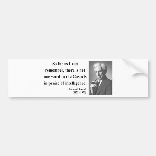 Cita 2b de Bertrand Russell Pegatina Para Auto