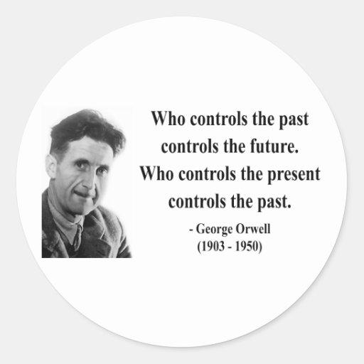 Cita 2b de George Orwell Pegatina Redonda