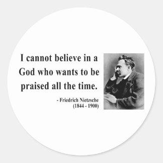 Cita 2b de Nietzsche Pegatinas Redondas