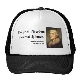 Cita 2c de Thomas Jefferson Gorros Bordados