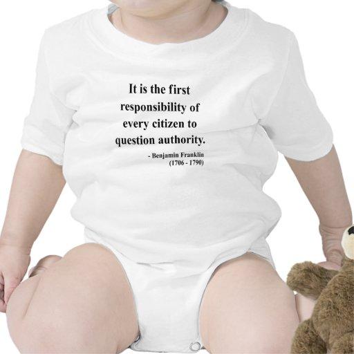 Cita 3a de Ben Franklin Traje De Bebé