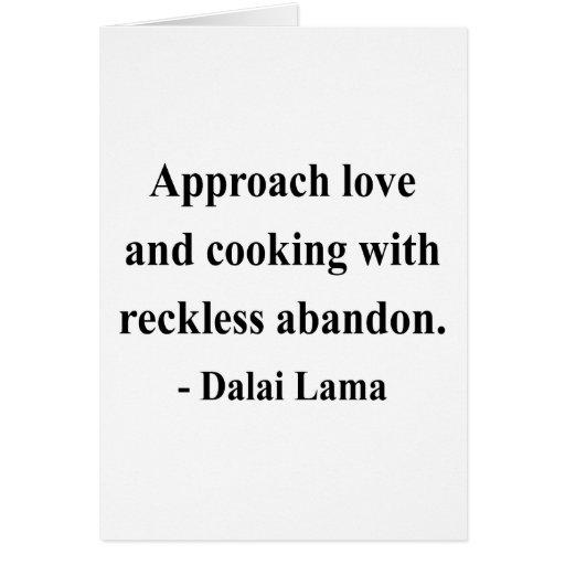 cita 3a de Dalai Lama Tarjeta De Felicitación