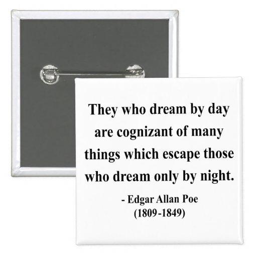 Cita 3a de Edgar Allen Poe Pins