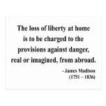 Cita 3a de James Madison Tarjeta Postal