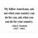 Cita 3a de JFK Tarjetas Postales