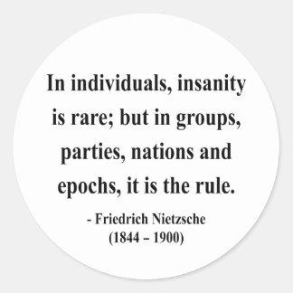 Cita 3a de Nietzsche Etiquetas Redondas