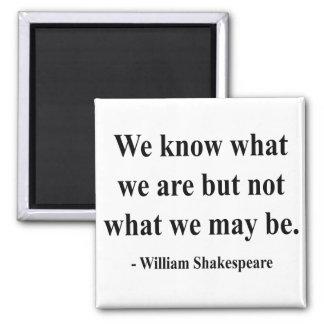 Cita 3a de Shakespeare Imán Cuadrado