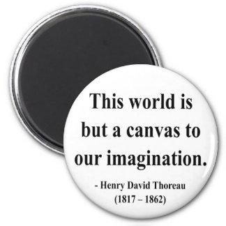 Cita 3a de Thoreau Imán Redondo 5 Cm