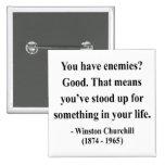 Cita 3a de Winston Churchill Pin