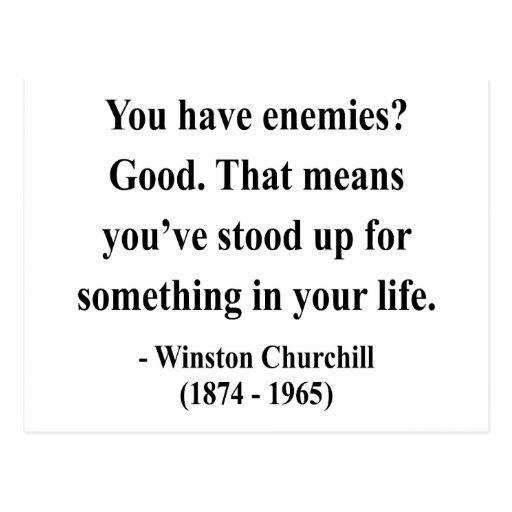 Cita 3a de Winston Churchill Postal