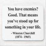 Cita 3a de Winston Churchill Alfombrillas De Ratones
