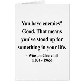 Cita 3a de Winston Churchill Felicitaciones