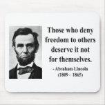Cita 3b de Abraham Lincoln Alfombrilla De Ratones