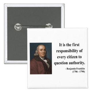 Cita 3b de Ben Franklin Pin
