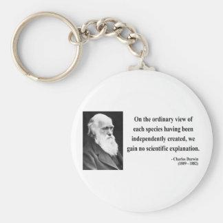 Cita 3b de Charles Darwin Llavero Redondo Tipo Pin
