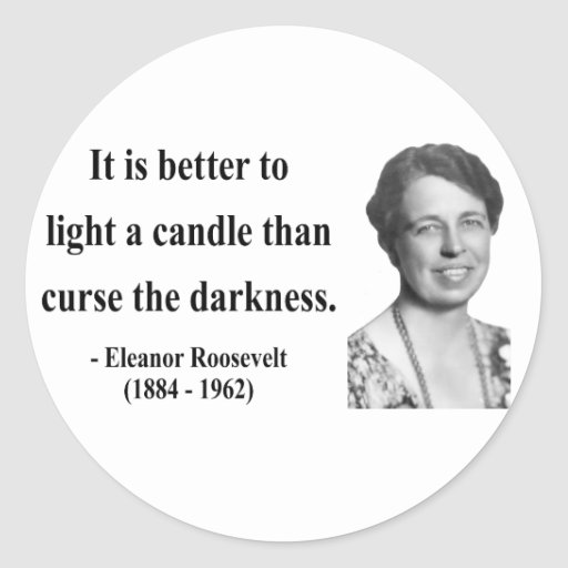 Cita 3b de Eleanor Roosevelt Pegatina Redonda