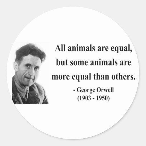 Cita 3b de George Orwell Pegatina