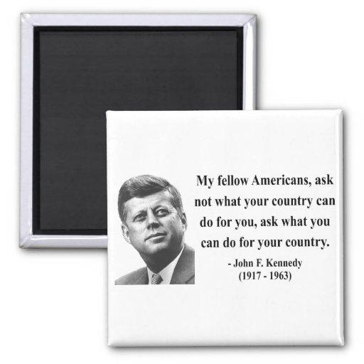 Cita 3b de JFK Imanes De Nevera
