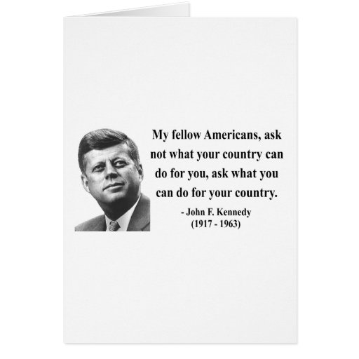 Cita 3b de JFK Tarjeta De Felicitación