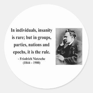 Cita 3b de Nietzsche Etiquetas Redondas
