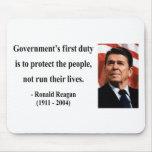 Cita 3b de Reagan Alfombrilla De Raton