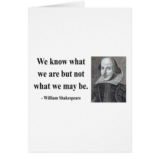 Cita 3b de Shakespeare Tarjeta De Felicitación