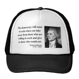 Cita 3b de Thomas Jefferson Gorro