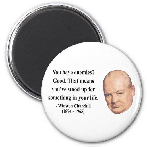 Cita 3b de Winston Churchill Imán Redondo 5 Cm