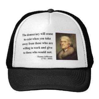 Cita 3c de Thomas Jefferson Gorra