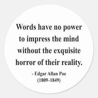 Cita 4a de Edgar Allen Poe Etiquetas Redondas
