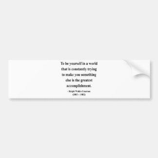 Cita 4a de Emerson Etiqueta De Parachoque