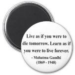 Cita 4a de Gandhi Imán Para Frigorífico