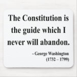 Cita 4a de George Washington Tapetes De Ratón