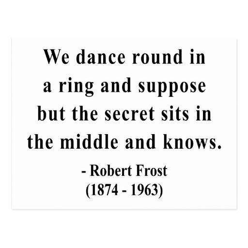 Cita 4a de Robert Frost Postales