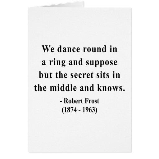 Cita 4a de Robert Frost Tarjetón
