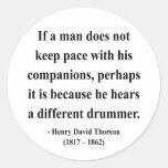 Cita 4a de Thoreau Etiqueta Redonda
